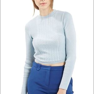 Top shop light blue crop top